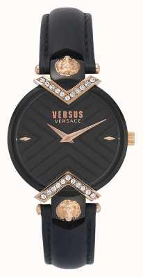 Versus Versace | bracelet en cuir noir dames | VSPLH1419