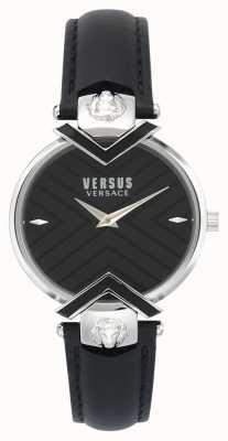 Versus Versace | bracelet en cuir noir dames | VSPLH0119