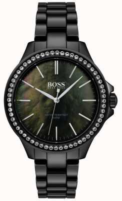 Hugo Boss | montre femme noire en acier inoxydable | 1502456