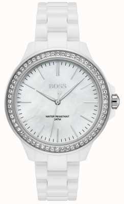 Hugo Boss | bracelet dames blanc | cadran blanc | 1502454
