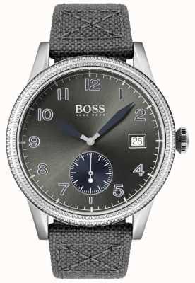 BOSS | bracelet en toile grise pour homme | montre héritage | 1513683