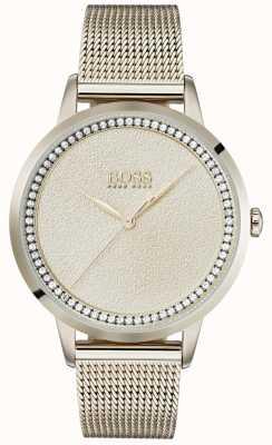 BOSS | bracelet en maille or rose pâle pour femme | Ex affichage 1502464 EX-DISPLAY