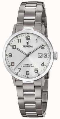Festina | montre en titane pour femmes | cadran argenté | bracelet en titane | F20436/1