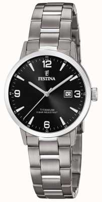 Festina | montre en titane pour femmes | cadran noir | bracelet en titane | F20436/3