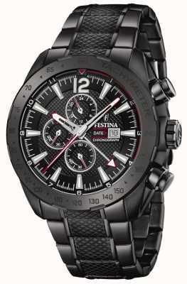 Festina | chronographe pour homme plaqué noir | bracelet en acier inoxydable | F20443/1