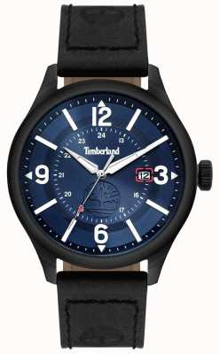 Timberland | mens blake | bracelet en cuir noir | cadran bleu | 14645JSU/03