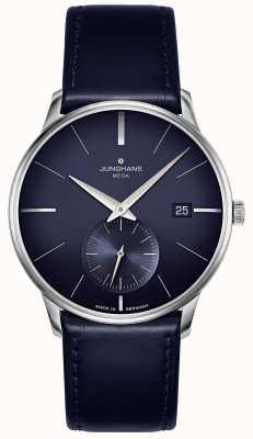 Junghans Meister méga petite seconde | bracelet en cuir bleu | 058/4901.00