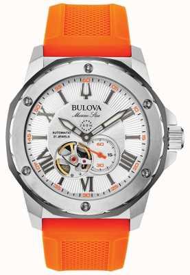 Bulova | hommes | étoile marine | automatique | bracelet en caoutchouc orange | 98A226
