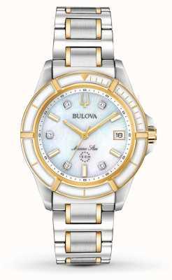 Bulova Bracelet deux étoiles marine pour femme 98P186