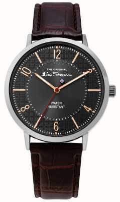 Ben Sherman | bracelet en cuir croco messieurs | BS018BR
