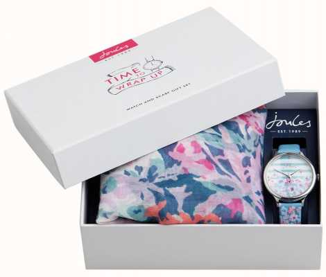 Joules | ensemble cadeau montre et écharpe pour femme | JSL015USSET