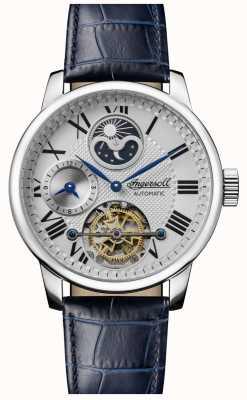 Ingersoll | mens le riff | bracelet en cuir bleu | cadran blanc | I07401