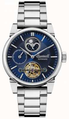 Ingersoll | mens la balançoire | bracelet en acier inoxydable | cadran bleu | I07501