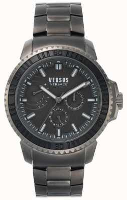 Versus Versace | mens aberdeen | cadran noir | bracelet en acier inoxydable gris VSPLO0819