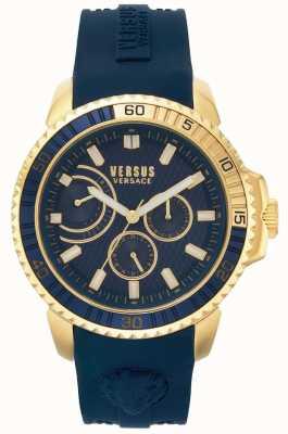 Versus Versace | mens aberdeen | bracelet en caoutchouc bleu | cadran bleu | VSPLO0219
