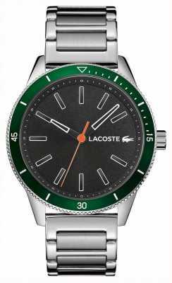 Lacoste | mens key west | bracelet en acier inoxydable | cadran gris | 2011009