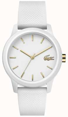 Lacoste 12.12 femmes | bracelet en silicone blanc | cadran blanc | 2001063