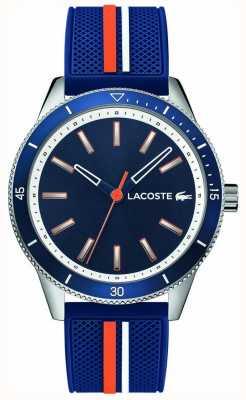 Lacoste | mens key west | bracelet en silicone bleu | cadran bleu | 2011007