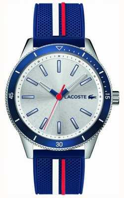 Lacoste | mens key west | bracelet en silicone bleu | cadran argenté | 2011006