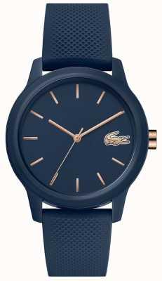 Lacoste 12.12 femmes | bracelet en silicone bleu marine | cadran bleu marine | 2001067
