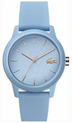 Lacoste | femmes 12-12 | bracelet en silicone bleu | cadran bleu | 2001066