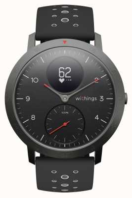 Withings Bracelet en silicone noir cadran noir acier sport 40mm HWA03B-40BLACK-SPORT-ALL-INTER