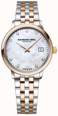 Raymond Weil | diamant toccata femme | acier inoxydable deux tons | 5985-SP5-97081