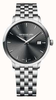 Raymond Weil   toccata mens   bracelet en acier inoxydable   cadran gris   5485-ST-60001