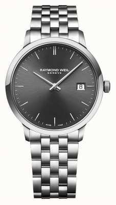 Raymond Weil | mens toccata | bracelet en acier inoxydable | cadran gris | 5485-ST-60001