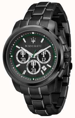 Maserati Royale chronographe cadran noir acier plaqué pvd noir R8873637004