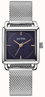 Jack Wills | montre en acier maillée pour femme | cadran bleu | JW016NVSL