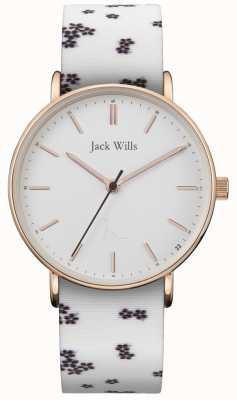 Jack Wills | dames silicium blanc silicium | cadran blanc | JW018FLWH