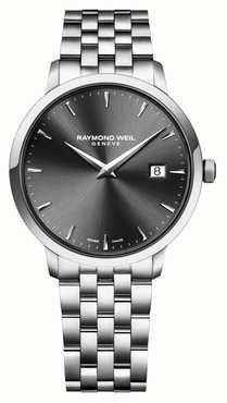 Raymond Weil   bracelet en acier inoxydable toccata messieurs   cadran noir   5485-ST-20001