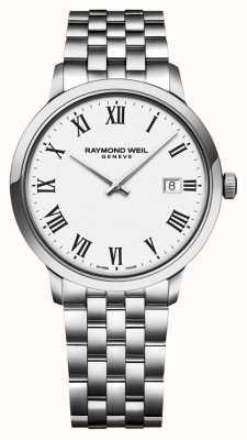 Raymond Weil | bracelet en acier inoxydable toccata pour homme | cadran blanc | 5485-ST-00300