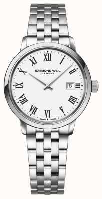 Raymond Weil | bracelet en acier inoxydable toccata pour femme | cadran blanc | 5985-ST-00300