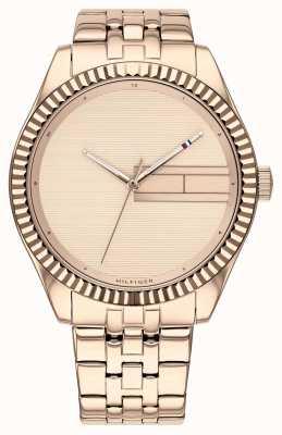 Tommy Hilfiger | Bracelet en acier inoxydable or rose pour femme | cadran en or rose 1782082