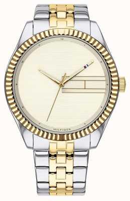 Tommy Hilfiger | bracelet en acier inoxydable deux tons pour femmes | cadran champagne 1782083