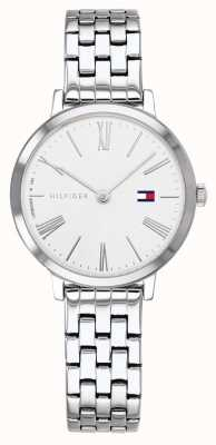 Tommy Hilfiger   bracelet en acier inoxydable pour femme   cadran blanc   1782056