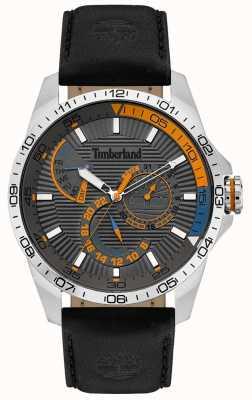 Timberland | montre oakham pour homme | bracelet en cuir noir | cadran gris | 15641JS/13