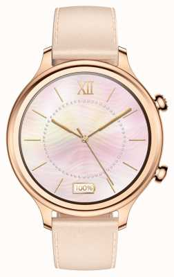TicWatch C2 | montre intelligente en or rose | bracelet en cuir 131584-WG12056-RG
