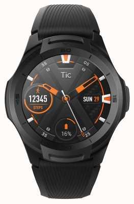TicWatch S2 | smartwatch de minuit | bracelet en silicone noir 131585-WG12016-BLK