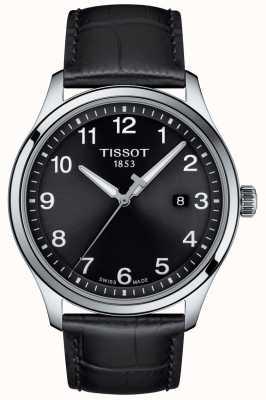 Tissot | mens xl | cadran noir | bracelet en cuir noir | T1164101605700