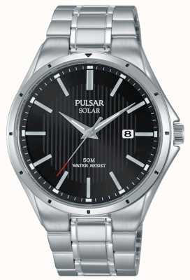 Pulsar Bracelet homme inox cadran noir solaire PX3117X1