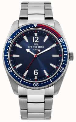 Ben Sherman | montre homme ronnie diver | cadran bleu sunray | WB037USM