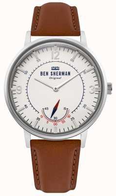Ben Sherman | héritage de portobello pour hommes | cadran blanc cassé | cuir beige | WB034T
