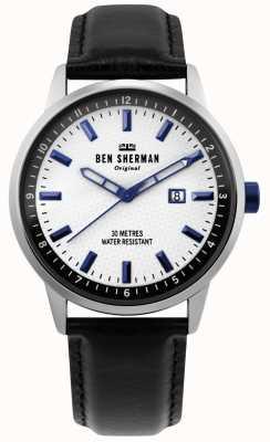 Ben Sherman | daltrey professionnel | cuir noir | cadran blanc | WB030B