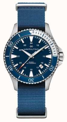 Hamilton | kaki marine plongée automatique | bracelet en tissu bleu | cadran bleu H82345941