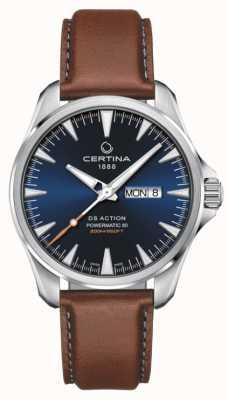 Certina | ds action jour-date powermatic 80 | cadran bleu | Ex affichage C0324301604100EX-DISPLAY