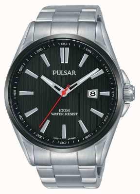 Pulsar | mens en acier inoxydable | cadran noir | PS9605X1