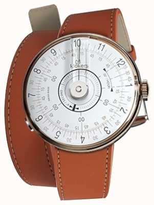 Klokers Klok 08 tête de montre blanche orange 420 mm à double bracelet KLOK-08-D1+KLINK-02-420C8